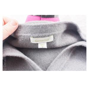 Garnet Hill Sweaters - Grey 100% Wool Knit Asymmetrical Ruffle Cardigan